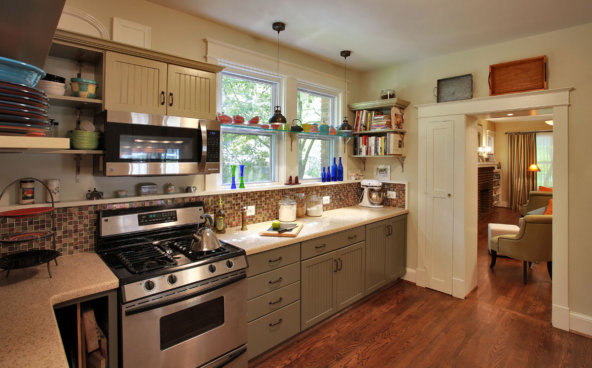 Bungalow kitchen the image kid has it for Bungalow style kitchen cabinets
