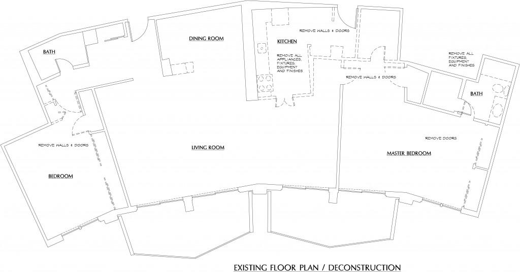 condo floor plan before renovation