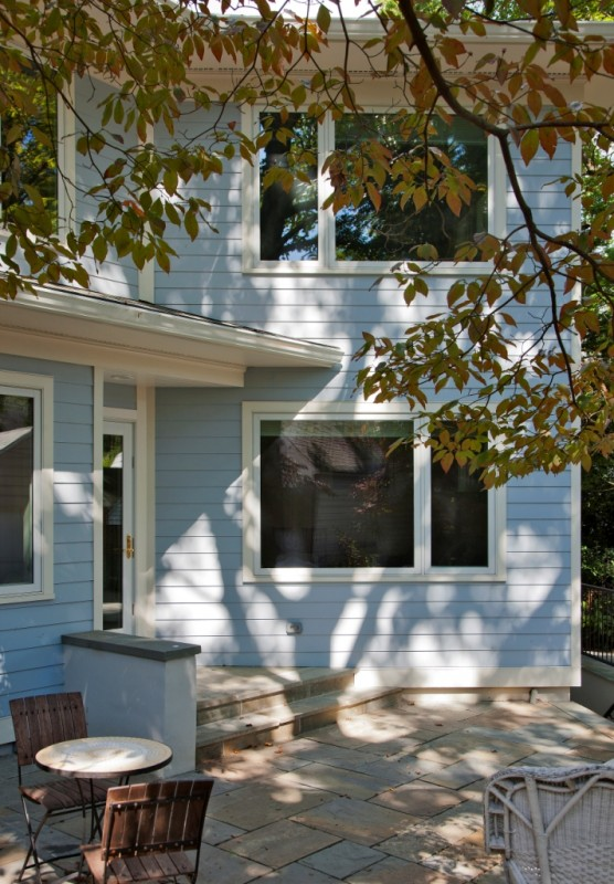 green home addition in arlington-rear elevation