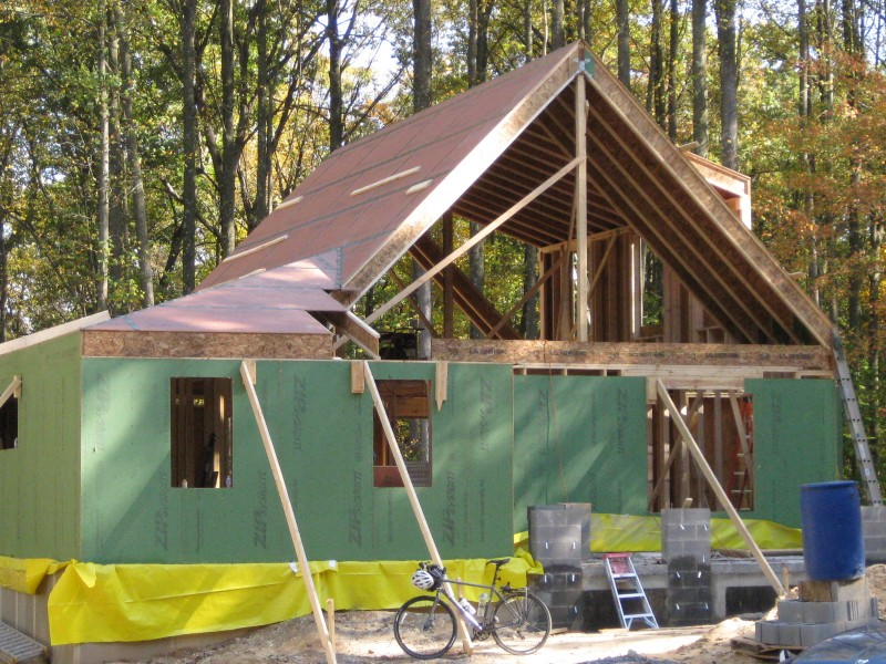 passive house rough framing