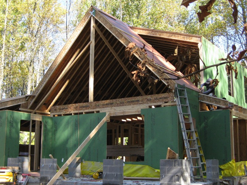 passive house framing the structural shell