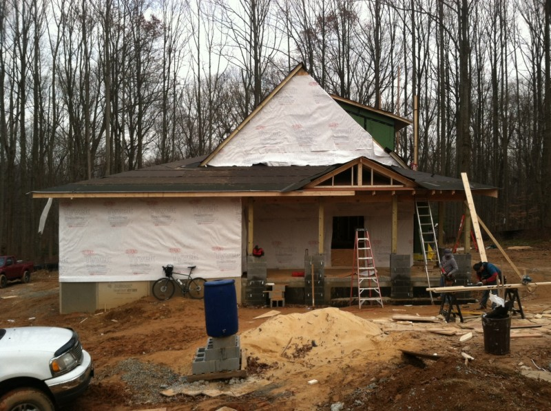 Passive House under construction in Derwood, MD