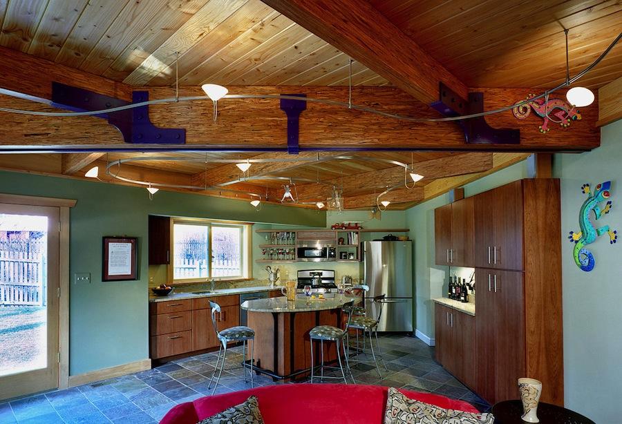 passive solar addition interior - kitchen