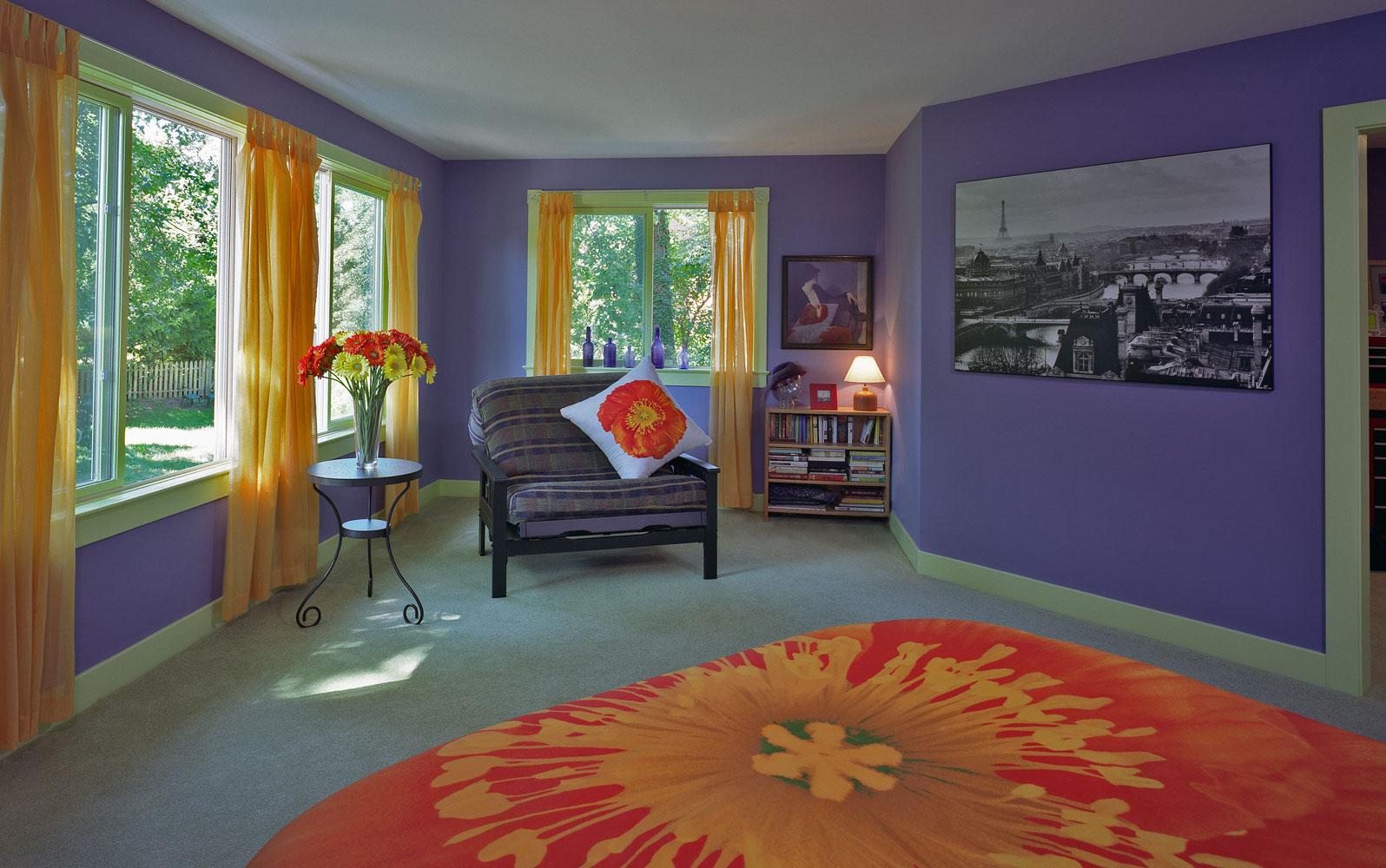 passive solar addition 2nd floor interior room