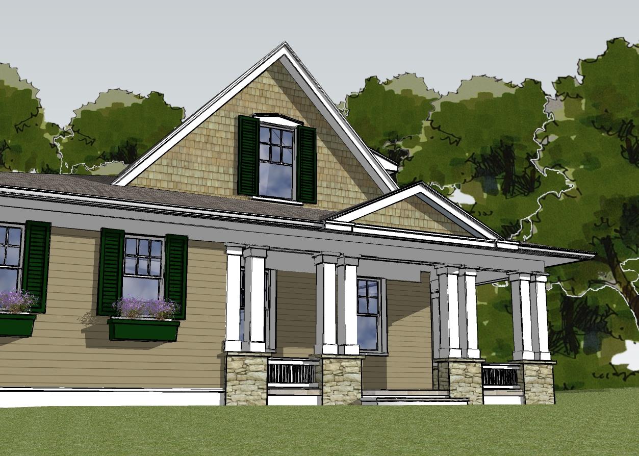passive house designer's rendering