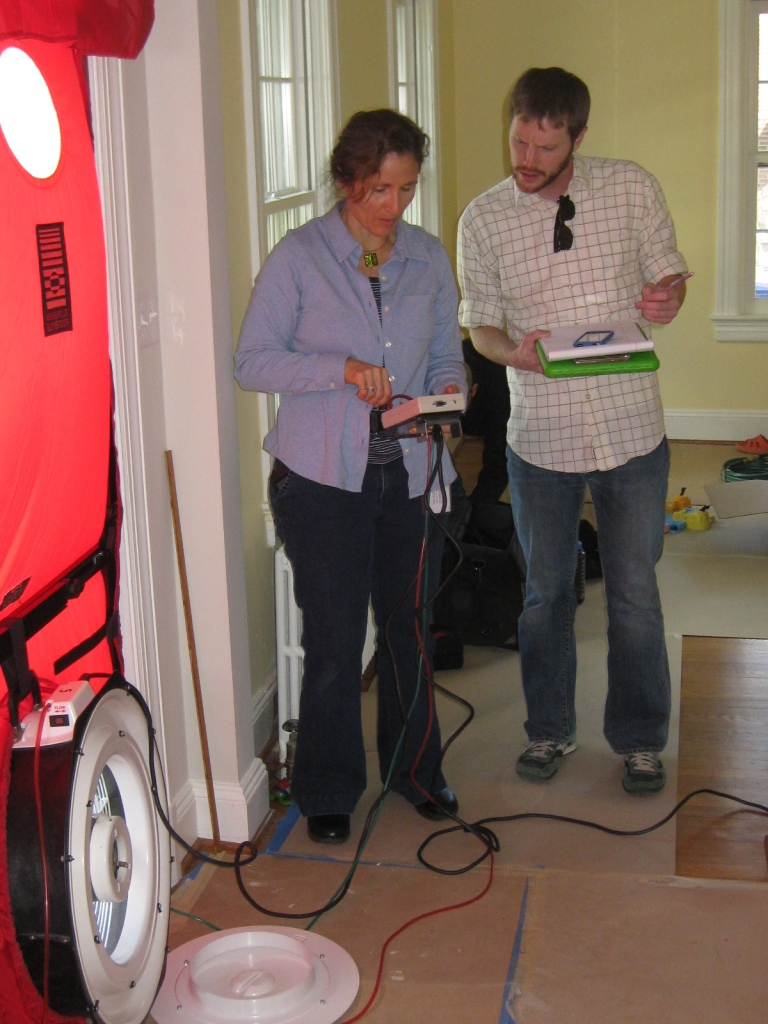 Proof of Energy Efficiency In Green Remodeling Shown In Results of Blower Door Test