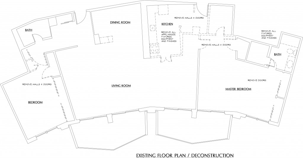 condo floor plan before renovation