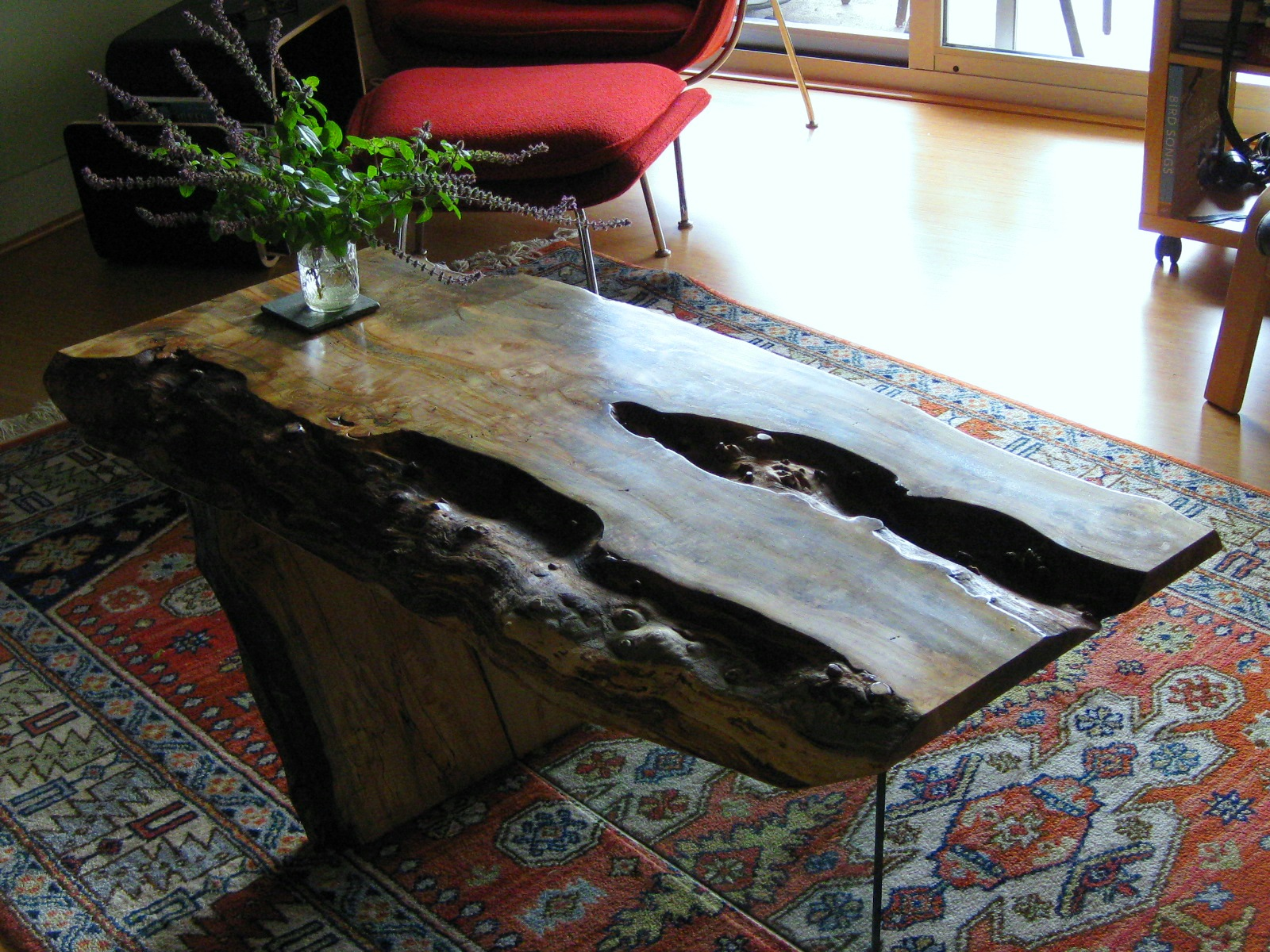 a coffee table, made of ambrosia maple by Marcus Simms