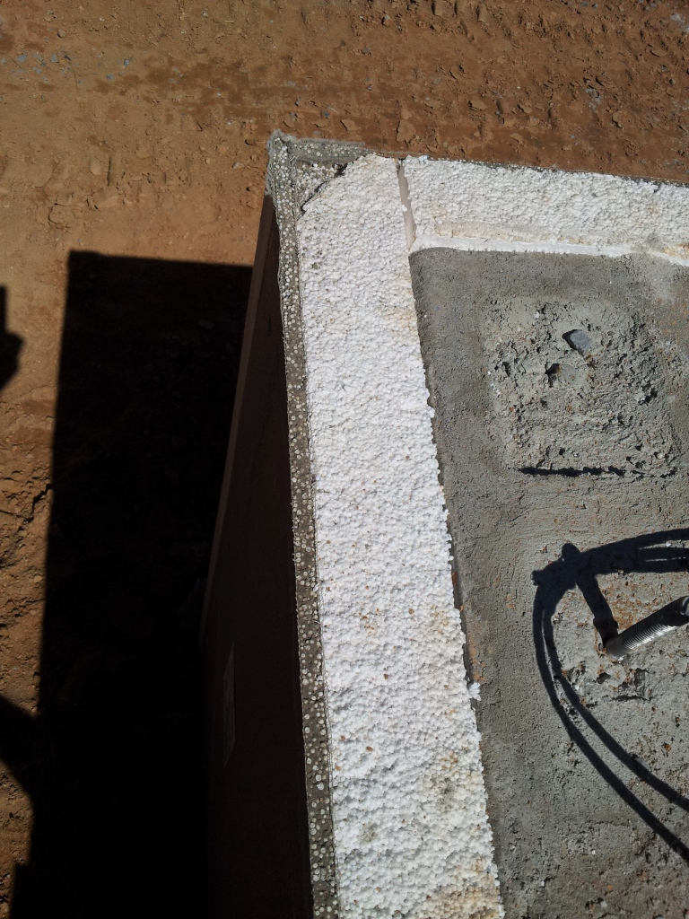 passive house - three inches of geo-foam insulation under foundation slab